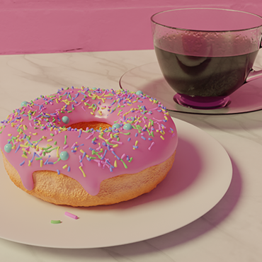 Donut – To get in touch with Blender